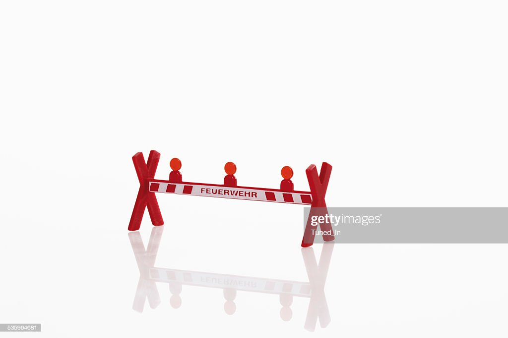 Barrier on white background : Stock Photo