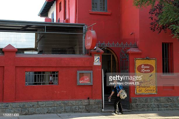 Barrio Bellavista in Santiago Chile on January 01 2009 An area that lies between the Mapocho River and San Cristobal Hill El barrio bohemio y...