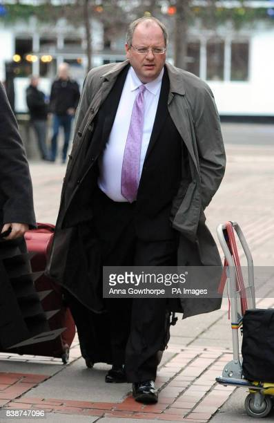 Barrister David Friesner arrives at Leeds Crown Court where he is accused of stealing money from his own chambers in Manchester and also from the...