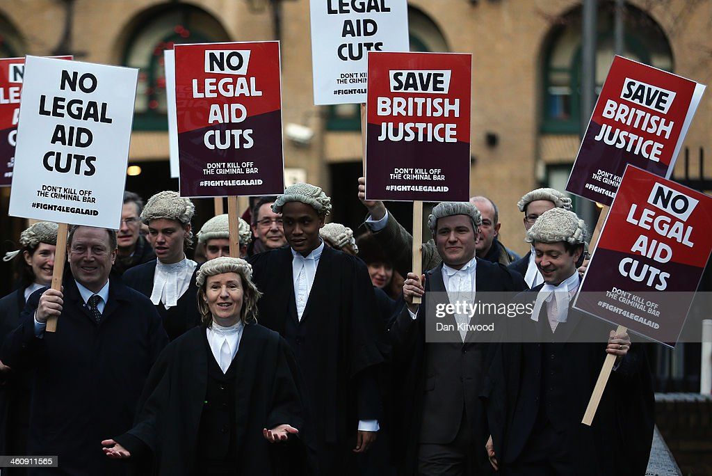 Barristers Walk Out Over Proposed Cuts To Legal Aid : News Photo