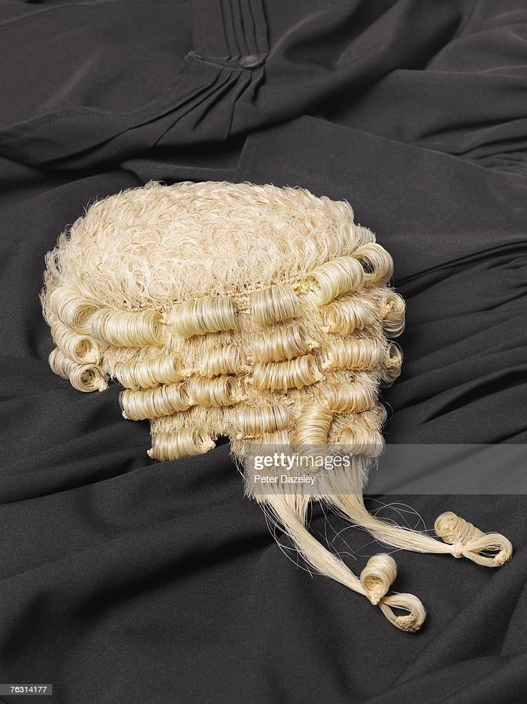 Barristers Wig On Gown Stock Photo | Getty Images