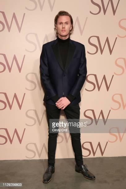 Barron Hilton II attends Stuart Weitzman Spring Celebration 2019 on February 12 2019 in New York City