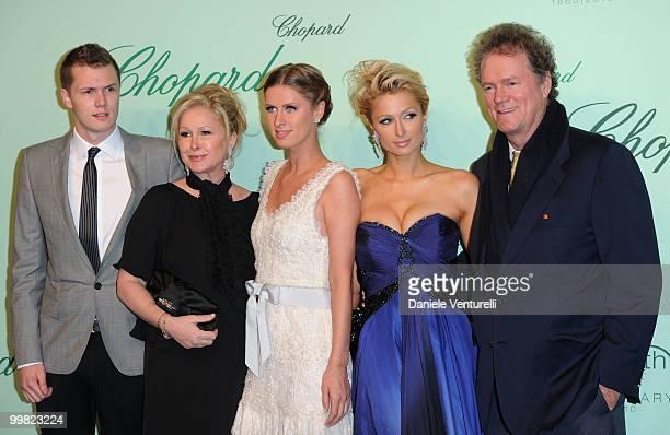 Barron Hilton Kathy Hilton Nicky Hilton Paris Hilton and Rick Hilton attend the Chopard 150th Anniversary Party at the VIP Room Palm Beach during the...