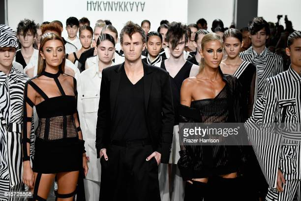 Barron Hilton walks the runway for Hakan Akkaya fashion show during New York Fashion Week The Shows at Gallery 2 Skylight Clarkson Sq on September 11...