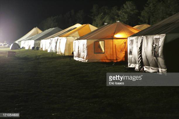 Barron Point Camp located on Camp Shelby Army Base near Hattiesburg Mississippi consisted of FEMA funded housing in the form of 16 person yurttents...
