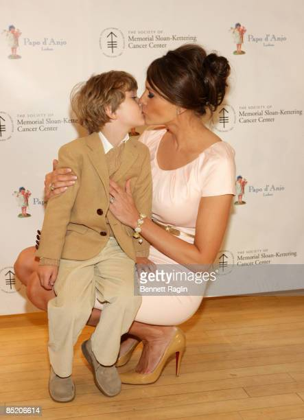 Barron Trump and Melania Trump attends the 18th Annual Bunny Hop at FAO Schwartz on March 3 2009 in New York City