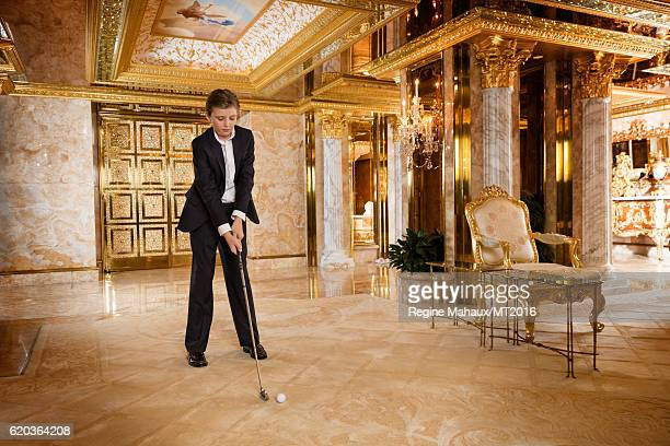 Barron Trump is photographed at Trump Tower on January 6 2016 in New York City