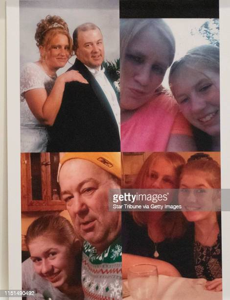 Photos of Jayme and her parents that were displayed by the prosecution at the sentencing of Jake Patterson for the murder of James and Denise Closs...