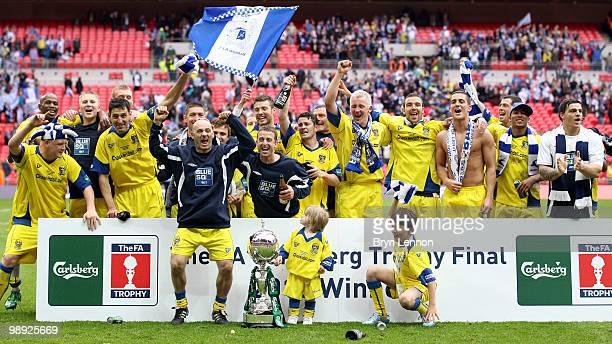Barrow celebrate winning the FA Carlsberg Trophy Final between Barrow and Stevenage Borough at Wembley Stadium on May 8, 2010 in London, England.