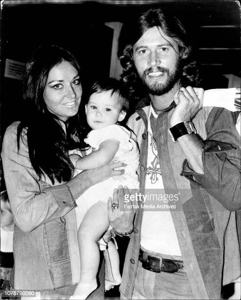 Barry & Linda Gibb were reunited with their 9 months old son Stephen when the Pop Group, the Bee Gees, arrived in Australia today to begin a 3...
