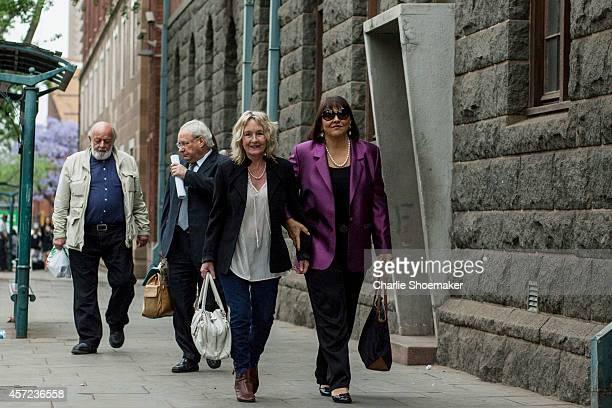Barry and June Steenkamp arrive atNorth Gauteng High Court on October 15, 2014 in Pretoria, South Africa. Pistorius will be sentenced having been...