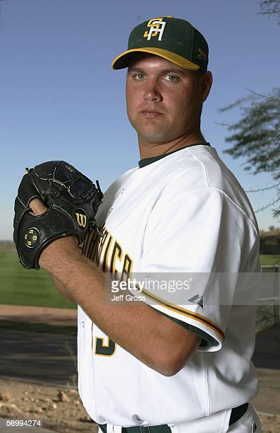 Barry Armitage of South Africa poses for a portrait during World Baseball Classic photo day at Papago Park on March 3 2006 in Phoenix Arizona