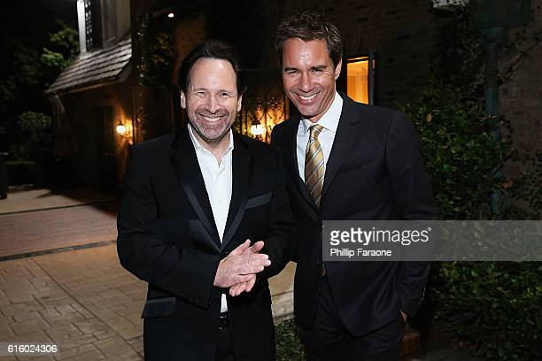 Barry Avrich and Eric McCormack attend the Los Angeles book launch party for Barry Avrich's 'Moguls Monsters And Madmen' on October 20 2016 in Los...
