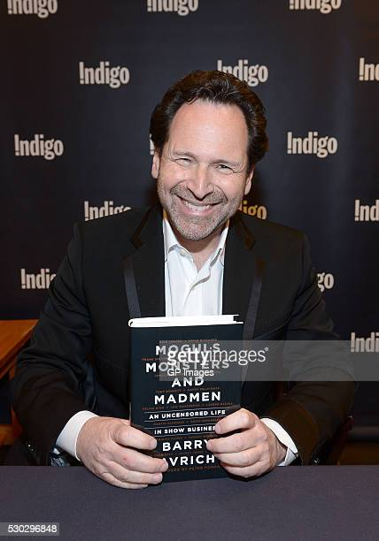 Barry Avrich at the launch of his new book 'Moguls Monsters And Madmen' at Indigo Manulife Centre on May 10 2016 in Toronto Canada