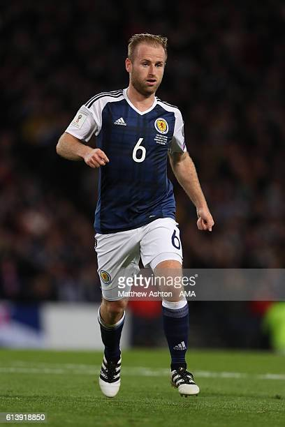 Barry Bannan of Scotland during the FIFA 2018 World Cup Qualifier between Scotland and Lithuania at Hampden Park on October 8 2016 in Glasgow Scotland