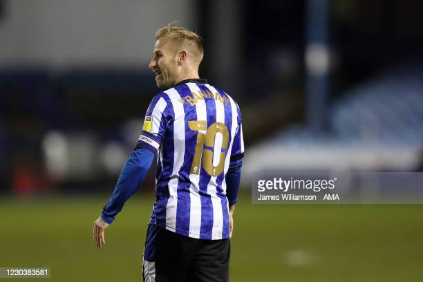 Barry Bannan of Sheffield Wednesday during the Sky Bet Championship match between Sheffield Wednesday and Derby County at Hillsborough Stadium on...