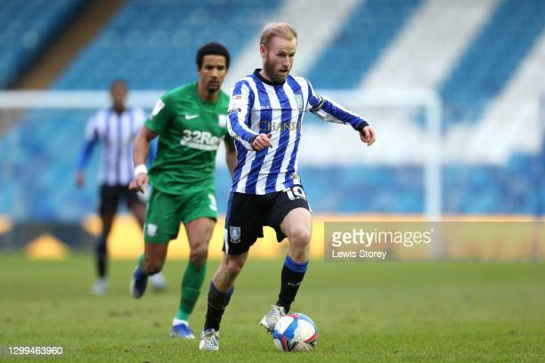 Barry Bannan of Sheffield Wednesday in action during the Sky Bet Championship match between Sheffield Wednesday and Preston North End at Hillsborough...