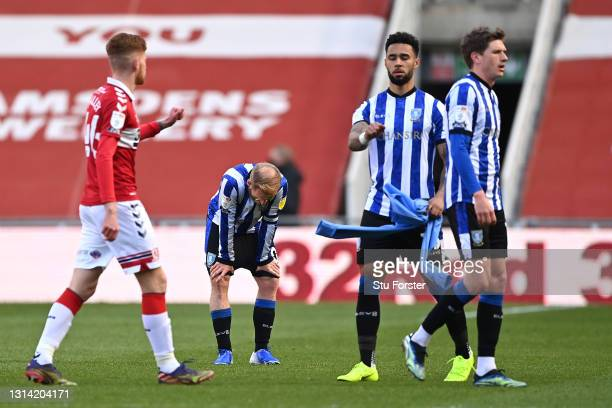 Barry Bannan of Sheffield Wednesday looks dejected after the Sky Bet Championship match between Middlesbrough and Sheffield Wednesday at Riverside...