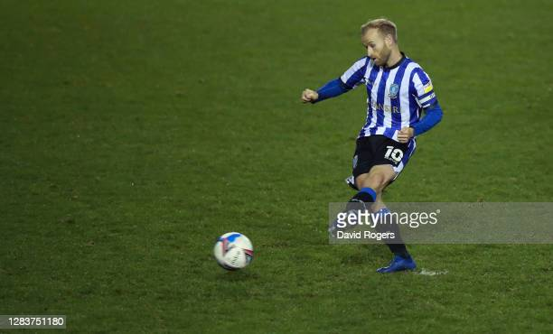 Barry Bannan of Sheffield Wednesday scores his sides first goal during the Sky Bet Championship match between Sheffield Wednesday and AFC Bournemouth...