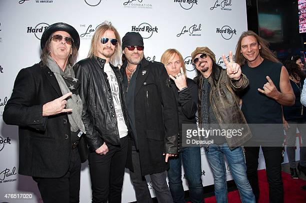 Barry Barnes Stoney Curtis Danny Koker John Zito Paul DiSibio and Tommy Paris of Count's 77 attend Les Paul's 100th Anniversary Celebration at the...
