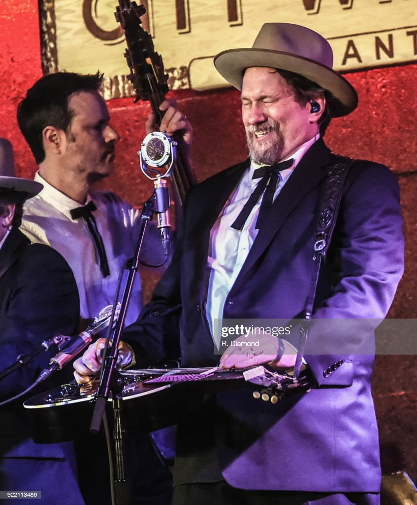 Barry Bates and Jerry Douglas of Earls of Leicester performs at City Winery on February 20, 2018 in Atlanta, Georgia.