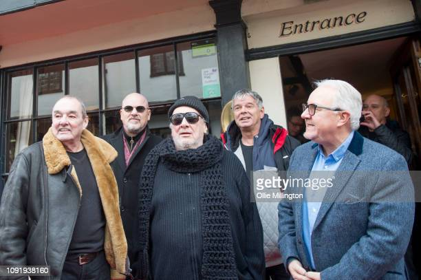 Barry Baz Warne Dave Greenfield Jet Black and JeanJacques Burnel of The Stranglers and PRS for Music Chairman Nigel Elderton present The Starr Inn...