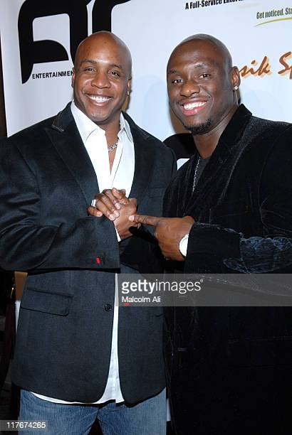 Barry Bonds and Antonio Tarver during Antonio Tarver Presents MGM's Rocky Balboa Premiere Release KickOff Bash at The Garden of Eden in Los Angeles...