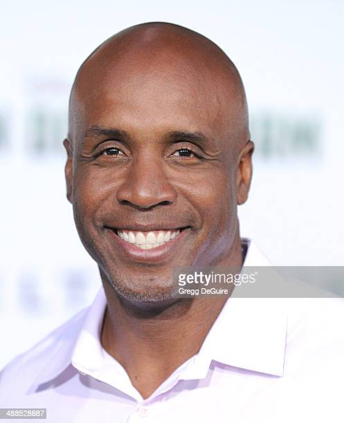 Barry Bonds arrives at the Los Angeles premiere of Million Dollar Arm at the El Capitan Theatre on May 6 2014 in Hollywood California