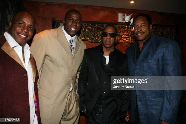 Barry Bonds Earvin Magic Johnson Jay Z and Dave Winfield