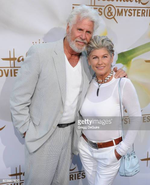 Barry Bostwick and Sherri Jensen Bostwick arrive at the 2017 Summer TCA Tour Hallmark Channel And Hallmark Movies And Mysteries at a private...