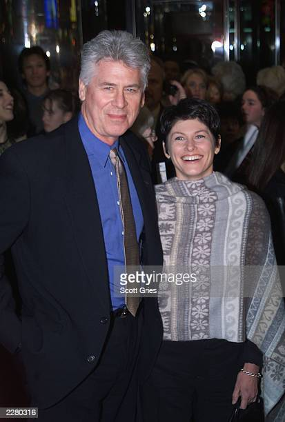 Barry Bostwick and Wife Sherri Ellen Jensen at the Aida opening in New York City NY on March 23 2000 Photo by Scott Gries/Getty Images