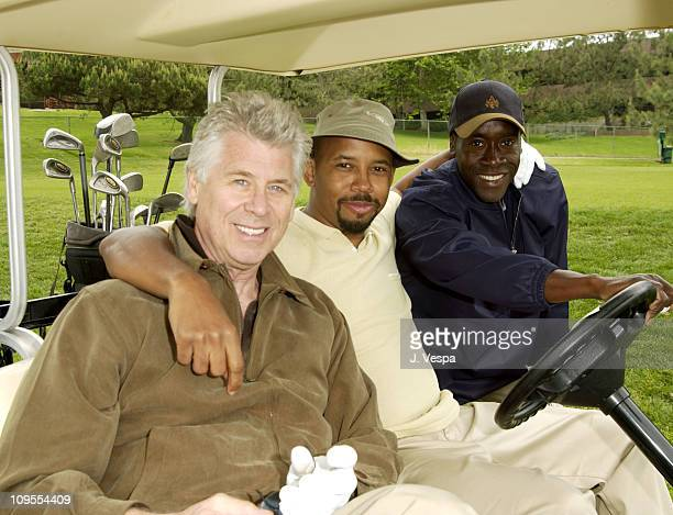 Barry Bostwick Michael Boatman and Don Cheadle during 3rd Annual Project ALS Spring Benefit Celebrity Golf Tournament at The Lodge at Torrey Pines in...