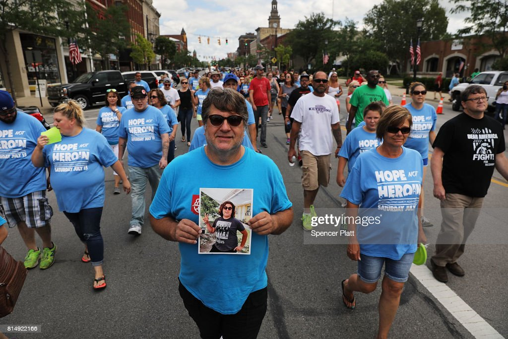 March And Rally Held Calling On Increased Federal Efforts Combatting Nation's Opioid Crisis : News Photo