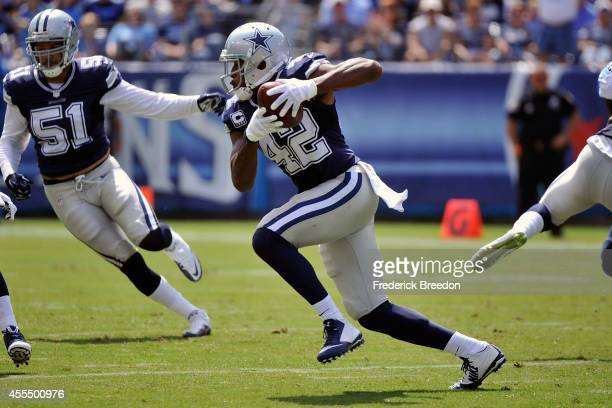 Barry Church of the Dallas Cowboys plays against the Tennessee Titans at LP Field on September 14 2014 in Nashville Tennessee