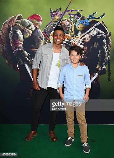 Barry Conrad and Gabriel Suhn arrives at the Sydney Premiere of Teenage Mutant Ninja Turtles at The Entertainment Quarter on September 7 2014 in...