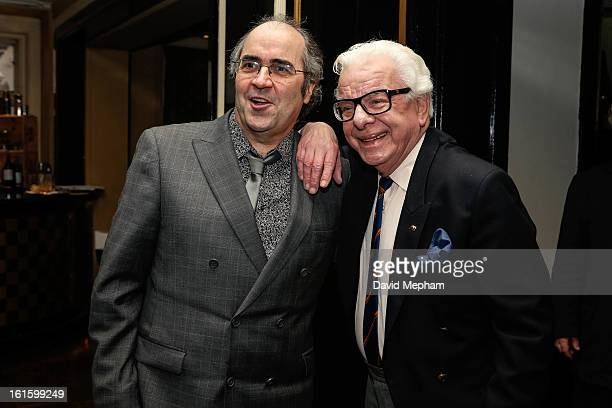Barry Cryer and Danny Baker attends the Oldie of the Year Awards at Simpsons in the Strand on February 12, 2013 in London, England.