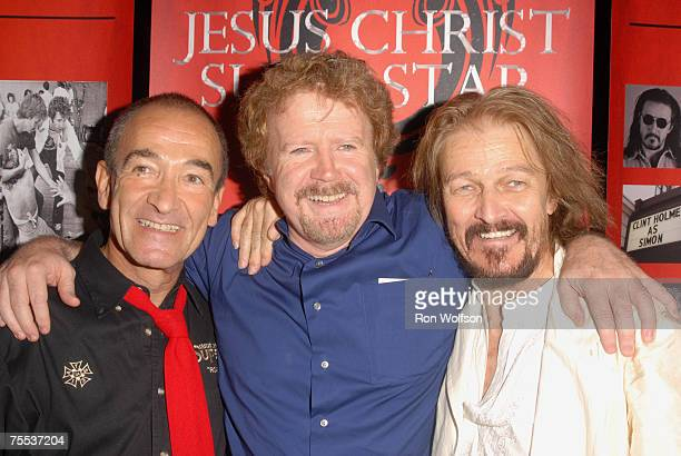 Barry Dennen director Gary Goddard and Ted Neeley at the Ricardo Montalban Theatre in Los Angeles California