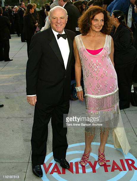 Barry Diller and Diane von FUerstenberg during 2004 Vanity Fair Oscar Party Arrivals at Mortons in Beverly Hills California United States