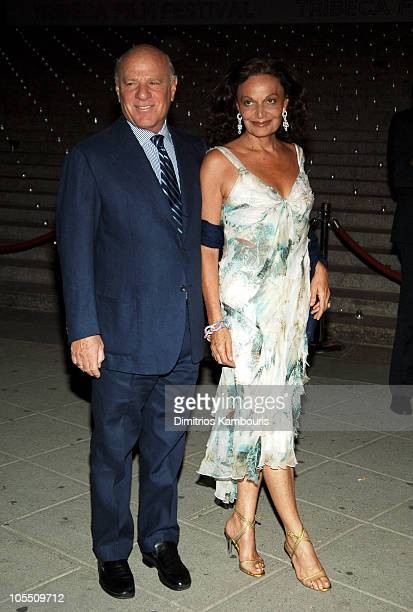 Barry Diller and Diane von FUerstenberg during 4th Annual Tribeca Film Festival Vanity Fair Party at The State Supreme Courthouse in New York City...
