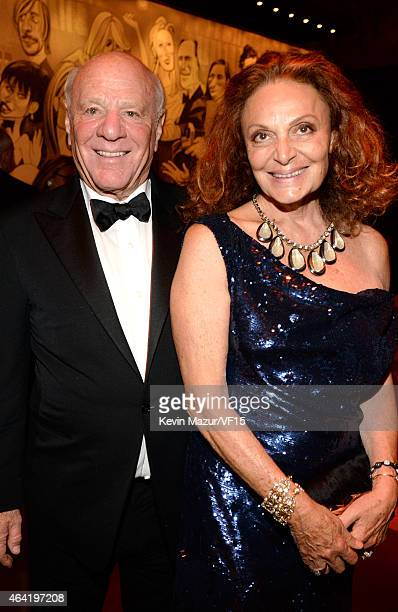 Barry Diller and Diane Von Furstenberg attend the 2015 Vanity Fair Oscar Party hosted by Graydon Carter at the Wallis Annenberg Center for the...