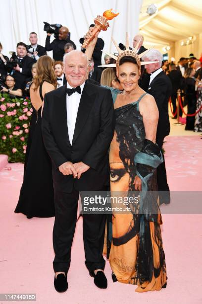 Barry Diller and Diane von Furstenberg attend The 2019 Met Gala Celebrating Camp: Notes on Fashion at Metropolitan Museum of Art on May 06, 2019 in...