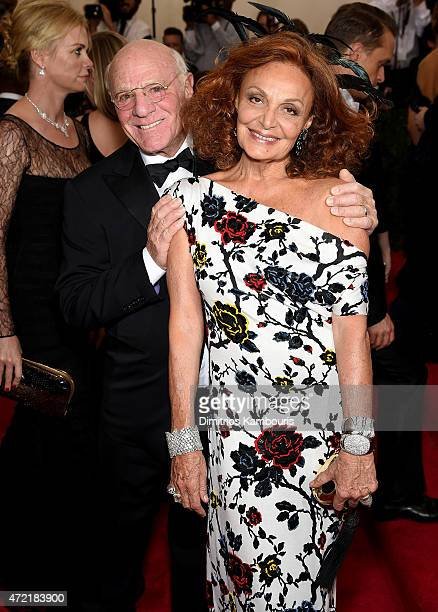 Barry Diller and Diane Von Furstenberg attend the 'China Through The Looking Glass' Costume Institute Benefit Gala at the Metropolitan Museum of Art...