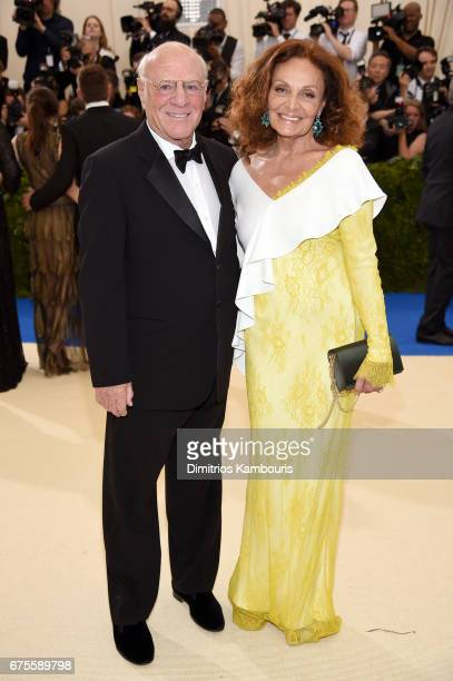 Barry Diller and Diane von Furstenberg attend the 'Rei Kawakubo/Comme des Garcons Art Of The InBetween' Costume Institute Gala at Metropolitan Museum...