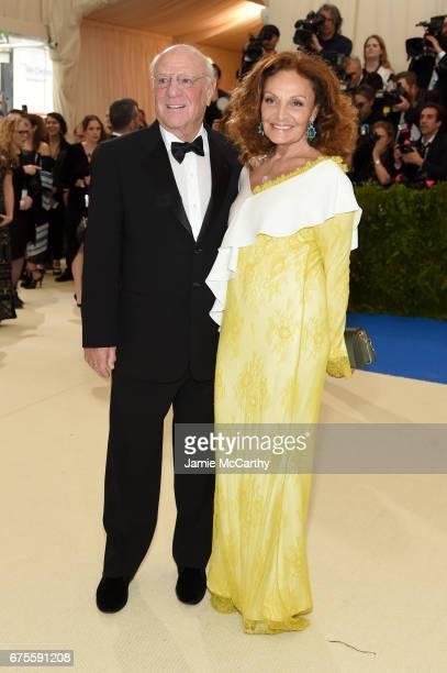 Barry Diller and Diane von Furstenberg attend the 'Rei Kawakubo/Comme des Garcons Art Of The InBetween' Costume Institute Gala at Metropolitan Museum...