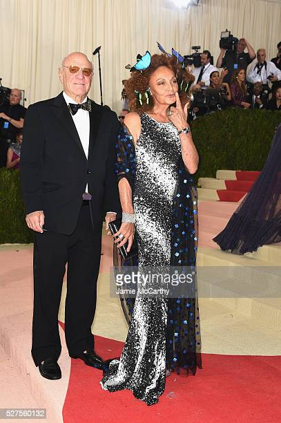 Barry Diller and Diane von Furstenberg attends the 'Manus x Machina Fashion In An Age Of Technology' Costume Institute Gala at Metropolitan Museum of...