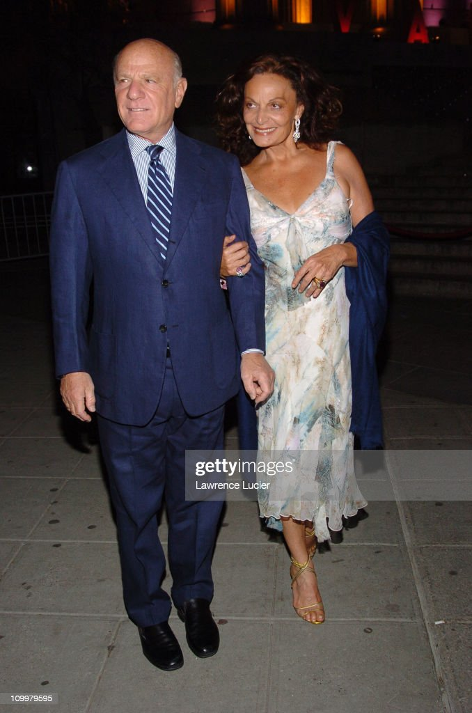 Barry Diller and Diane Von Furstenberg during 4th Annual Tribeca Film Festival - Vanity Fair Party at New York Supreme Court in New York City, New York, United States.