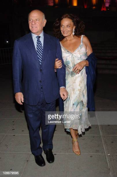 Barry Diller and Diane Von Furstenberg during 4th Annual Tribeca Film Festival Vanity Fair Party at New York Supreme Court in New York City New York...