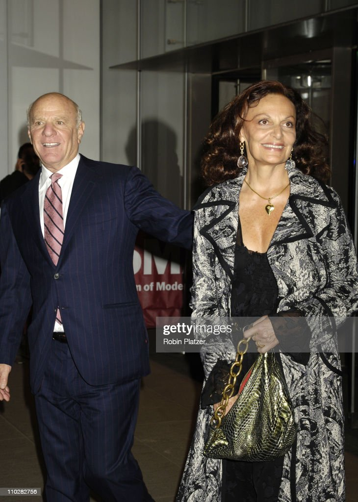Barry Diller and Diane Von Furstenberg during Cocktail Party for TRH The Prince of Wales and The Duchess of Cornwall at the Museum of Modern Art - November 1, 2005 at Museum of Modern Art in New York City, New York, United States.