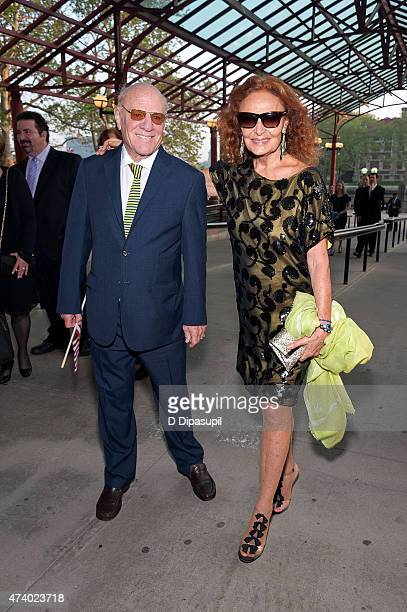 Barry Diller and honoree Diane von Furstenberg attend 2015 Statue of LibertyEllis Island Foundation's Gala In The Great Hall at Ellis Island National...