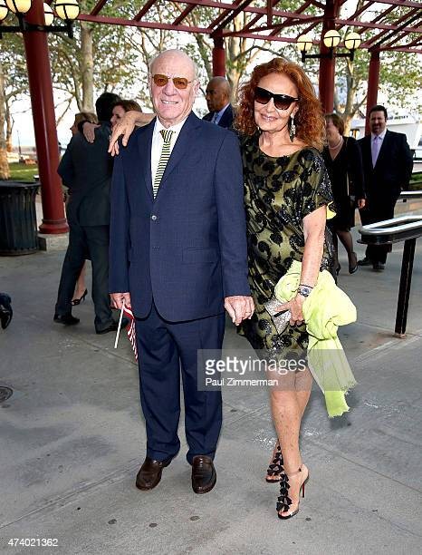 Barry Diller and Honoree Diane von Furstenberg attend the 2015 Statue Of LibertyEllis Island Foundation's Gala In The Great Hall at Ellis Island...